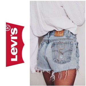 Levi's 501 cut off denim shorts